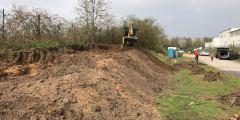 Bau der Crawlerstrecke